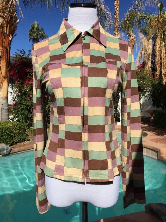 Biscote Color Block Jacket,Made in France,Size 1
