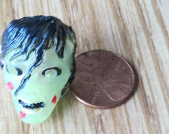 Dollhouse Miniature Translucent Zombie Girl Halloween mask
