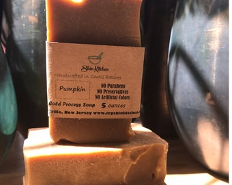 Pumpkin Soap, Organic, Cold Process, Vegan, Handmade Soap