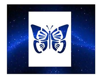 Butterfly 2 Stencil
