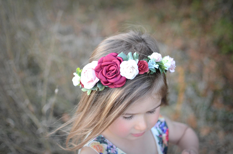 Burgundy blush flower crownflower crown fall headband fall flower burgundy blush flower crownflower crown fall headband fall flower crown christmas izmirmasajfo