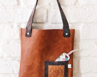 Storybook Leather Tote
