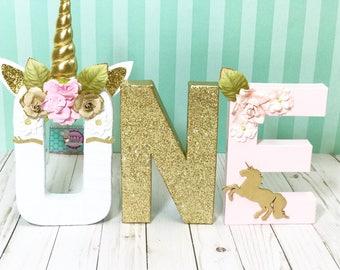 Unicorn Floral Letters © - Unicorn Letters - Unicorn first Birthday - Unicorn Decorations - Unicorn birthday- unicorn birthday Decor