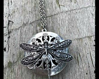 Dragonfly Necklace, Dragonfly, aromatherapy necklace, essential oil necklace, Diffuser Necklace, deffusing necklace, zen jewelry