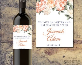 WEDDING WINE Bottle Label, CUSTOM Wine Bottle Labels for Wedding Tables, Bride and Groom Wedding Wine Bottle Label, Wedding Centerpieces