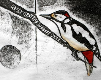 Great Spotted Woodpecker Card | Greetings Card | British Birds | Printed in the UK on Recycled Card