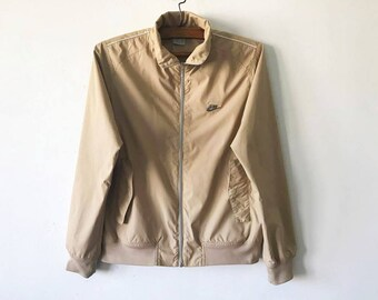 Beige Brown NIKE Windbreaker Light Brown Nike Parka Hipster Jacket Nike Wind Lightweight Jacket Jogging Jacket Size Medium Nike Windbreaker