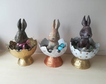 Bunny Easter Table Decoration, Bunny Easter Bucket, Easter Tote, Easter Basket, Golden Easter Basket, Bunny Easter Basket, Easter Home Décor