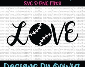 love baseball svg/ baseball png/ love baseball cut file