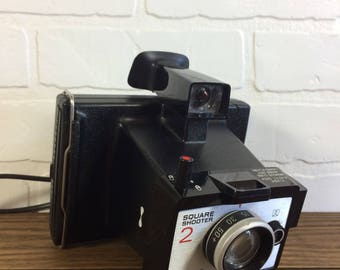 Polaroid Land Camera Square Shooter 2 / Vintage Polaroid Camera Land Series Square Shooter 2 Working / Polaroid Camera Cold Clip All Weather