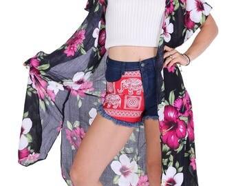 Floral Kimono, Gypsy kimono, Women Boho Kimono, Floral Kimono, bohemian kimono, Floral boho kimono