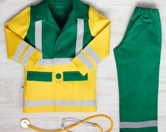 Paramedic Dress up costume | Gender neutral christmas gift | Imaginative play