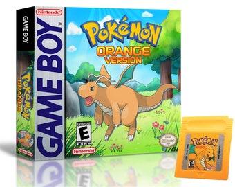 Pokemon Orange Version (Game + Case) Nintendo Game Boy (GBC) -(English Custom Fan Hack) Gameboy
