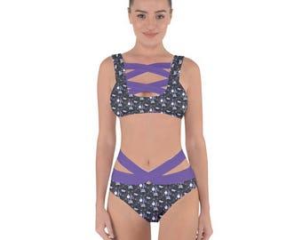Chandelure Bandage Bikini - Litwick Swimsuit Lampent Swimsuit Pokemon Swimsuit Plus Size Swimsuit Chandelure Evolutions Bathing Suit