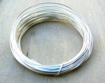 0.8mm silver plated wire - 20g silver plated copper wire - silver plated wire, jewellery making supplies, wire wrapping supplies, SPW020, 6m