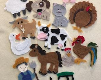 On the Farm Felt Board Figures, Goat, Pig, Farmer, Tractor, Farm Animals PDF Pattern