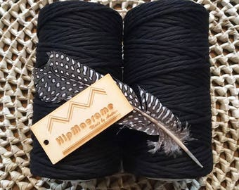 Black Twisted 3mm Rope