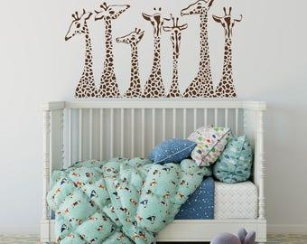 Incroyable Giraffe Wall Decals Nursery, Giraffe Family Wall Stickers Safari Nursery  Decor, Jungle Wall Decal