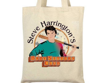 Stranger Things 2 TV show Steve Inspired Tote bag- Steve's babysitting Club- Steve Harrington-  Gift for Her- Gift for Him- Uk Seller