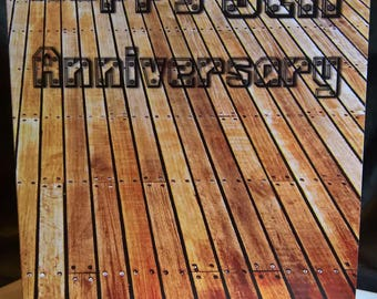 Happy 5th Anniversary - Wood - Greeting Card