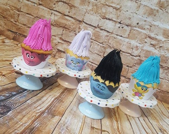 Trolls cupcake wrappers, Trolls face cupcake wrappers , Birthday cupcake wrappers, Trolls theme party, Birthday cupcake wrapper