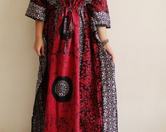 Halloween costume women, Caftan, cotton kaftan, Maxi Dress, Indian dress, kaftan dress, caftan dress, plus size kaftan, maternity (Red GB)