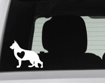 DONATION ITEM - German Shepherd w/ Heart Decal / Sticker