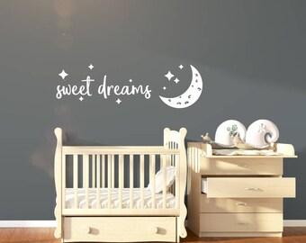 Sweet Dreams Nursery Wall Sticker Quote