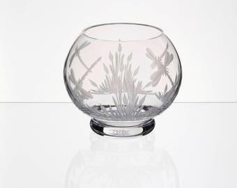 Candle Holder, Handmade UK, English Cut Crystal