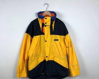 80s Ski Jacket Size Small, Yellow Ski Jacket, Vintage Yellow Winter Jacket