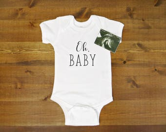 Oh Baby Infant Onepiece - Choose Your Color and Size // Announcement, Gift
