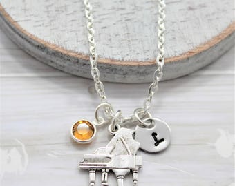 Piano Necklace - Personalized Jewerly for Pianist - Grand Piano Jewelry - Piano Music Necklace - Piano Lover Themed Gifts