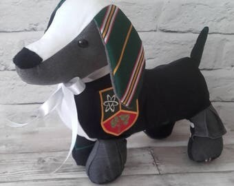 Dachshund Memory Keepsake - Baby Clothes, School Uniform, Sports Kit, Christening Gift, Remembrance Bear, cherished clothing