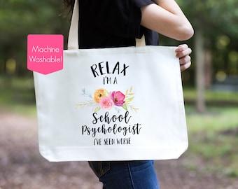 School Psychologist Tote Bag, School Psychologist Gift, School Psychologist Bag, Gift for School Psychologist, School Psychologist