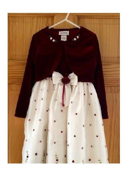 winter tulle burgundy flower girl dress velvet girls dress size 6 christmas dress for