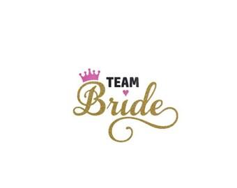 Team Bride Iron on Transfer, Wedding Iron on Transfer, Bridal Party Iron on