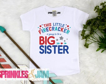 Kids 4th of July Shirt, Pregnancy Announcement, Big Sister, 4th of July Outfit, Independence Day, Patriotic Announcement