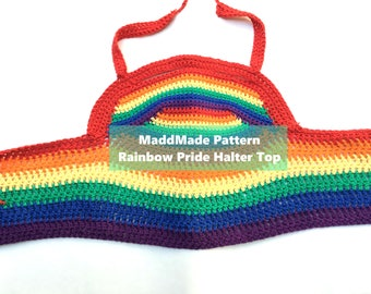 Rainbow Pride Halter Top Pattern
