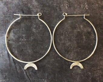 Sterling silver rainbow hoops