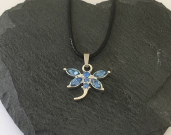 Blue dragonfly Necklace / dragonfly jewellery / wildlife jewellery / animal jewellery / animal lover gift