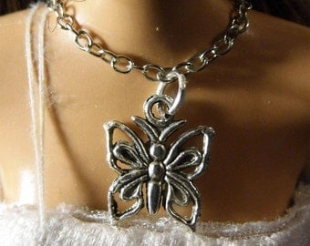 Beautiful butterfly charm necklace for Barbie doll.  Handmade by Nims