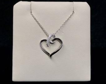 Vintage Open Diamond Heart Necklace VPL-15
