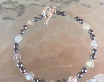 Hematite and Moonstone Bracelet For Healing and balance