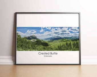 Crested Butte Art Print - Crested Butte Poster, Mt Crested Butte, Colorado