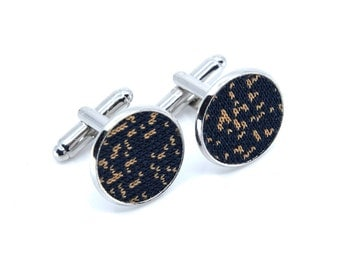 Galaxy Collection-Cufflinks silver/gold-Black | Brown spots
