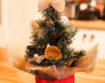 Small Table Christmas Tree Handmade Chic Festive Home Christmas Decor