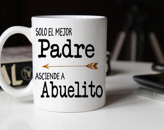 Padre Pregnancy Reveal Mug, Spanish New Abuelo, Gift for Abuelo, Abuelito, New Grandpa Mug Set, Padre Mug, Spanish Baby Announcement