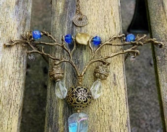 Shaman Branch Necklace  Gothic Jewelry Witch Boho Totem Forest Magic