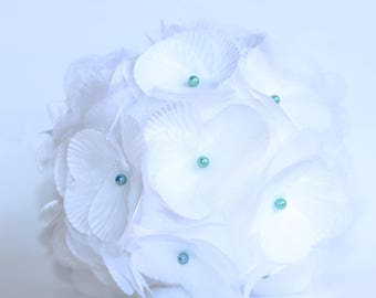 White wedding flower ball deco balls silk organza ornaments