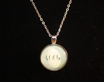 Let it Be Silver Tone Necklace